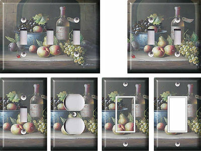 Wine and Fruit - Light Switch Covers Home Decor Outlet