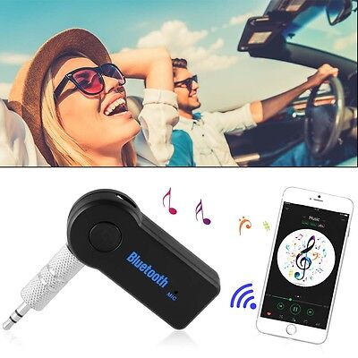 Wireless Bluetooth Audio Empfänger Stereo Musik Auto Adapter 3.5mm AUX Mic MA913