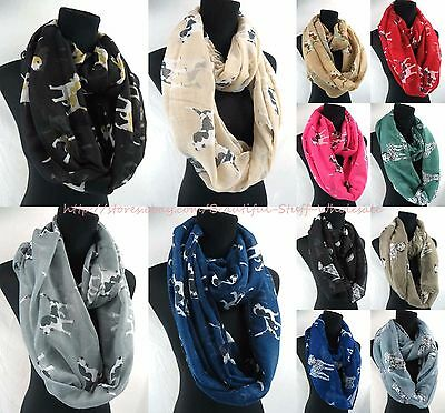US SELLER-lot of 10 Woman fashion Infinity scarf animal pets dogs infinity scarf
