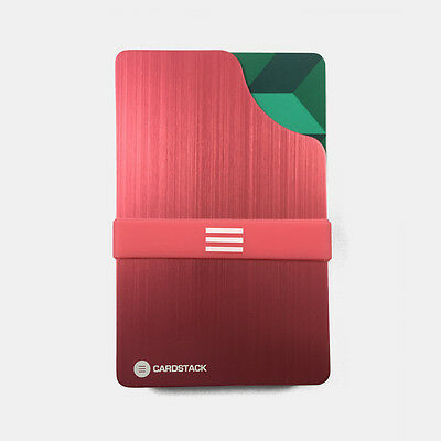 Cardstack Slim / Minimalist & RFID Blocking Wallet (Coral) - Men / Women