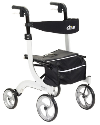 Drive Medical Nitro Euro Rollator Folding Walker Adult 4 Wheels 10266WT *NEW*