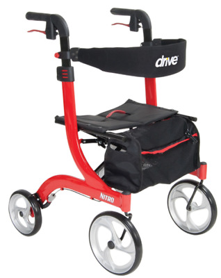 Drive Medical Nitro Euro Rollator Folding Walker Adult 4 Wheels 10266 *NEW*