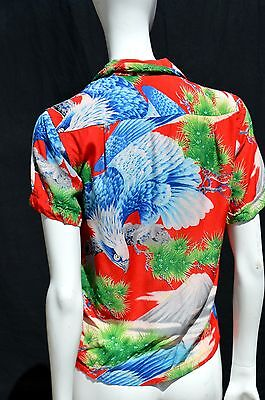 vintage 50's PENNEY'S HAWAIIAN shirt boys Sz 12 blouse japanese novelty print