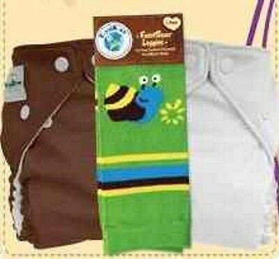 FuzziBunz® One Size Cloth Pocket Diaper 2 Pack with Matching Leggings Gift Set