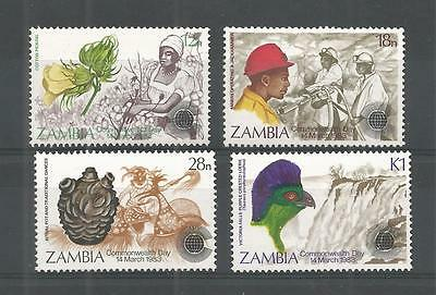 Zambia 1983 Commonwealth Day Sg,379-382 U/m N/h Lot 952A