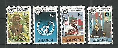 Zambia 1985 United Nations Sg,445-448 U/m N/h Lot 955A