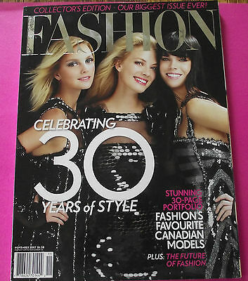 Fashion Magazine Canada Collector's Edition Cover November 2007