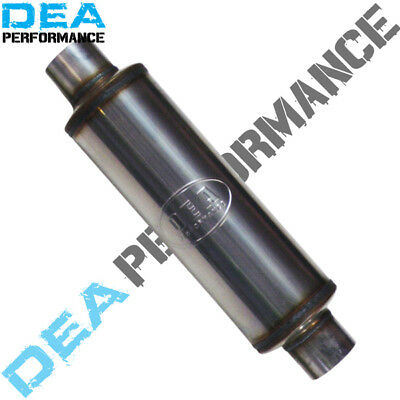 """6 X 14"""" Stainless Steel Sports Muffler - Universal Fitment - 2.5"""" Inlet/outlet"""