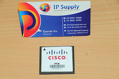 Original MEM-CF-4GB Compact Flash Memory for Cisco 1900 1921 1941 6MthWty TaxInv