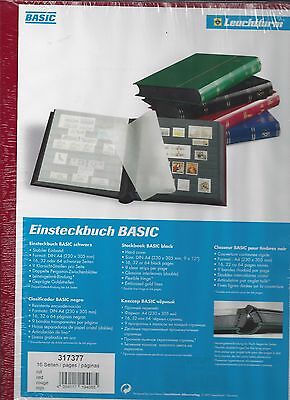 "Lighthouse Basic LS4/8R Red Stock Book 16 Black Pages Clear Strips 9""x12"""