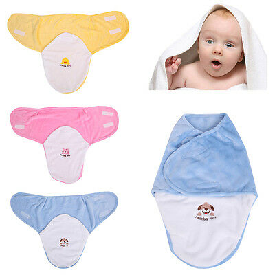 Cartoon Newborn Baby Infant Swaddle Wrap Swaddling Blanket Sleeping Bag