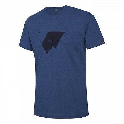 Men'S T-shirt Salewa Triangle Co M s/s TEE color dark blue