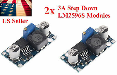 2pcs Re DC-DC 3A Buck Converter Adjustable Step-Down Power Supply Module LM2596S