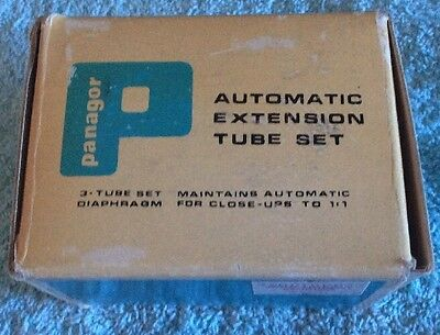 Panagor Automatic Extension Tube Set W/box MINOLTA