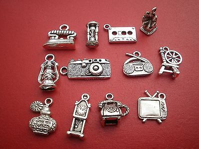 Tibetan silver alloy Retro charms  craft work- jewellery making camera - phone -