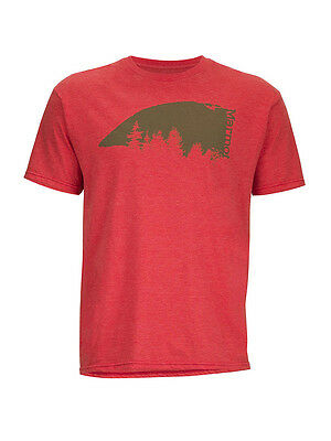 Men's T-shirt Marmot Overhang tee SS-REDH color Rouge chinè
