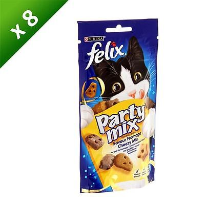 FELIX Party Mix Cheezy Friandises - Pour chat adulte - 60g (x8)