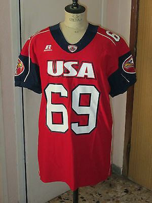Maillot Shirt Jersey Nfl Football Us Americain Team Usa 69 Russell