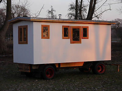 bauwagen zirkuswagen rolling home wohnwagen caravan anh nger tiny home garten eur. Black Bedroom Furniture Sets. Home Design Ideas