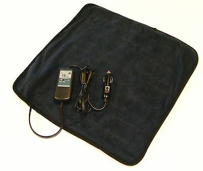 NAVY 12v Electric Heated Travel PAD - 'Lap Cosy' 40x40cm c/w Timer VC13NC0004
