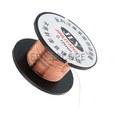 2/5/10Stks 0.1MM Copper Soldering Solder Enamelled Reel Wire Roll Connecting