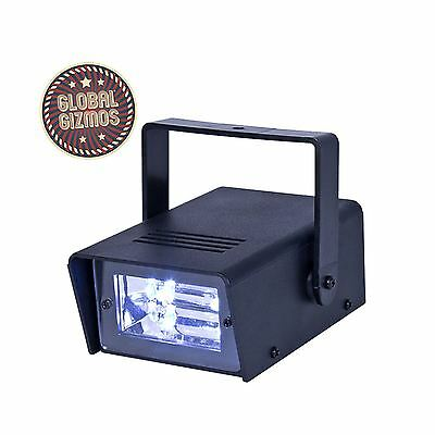 Mini Disco Strobe Light Ultra Bright LED Battery Power DJ Party Lighting Effect