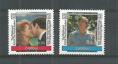 Zambia 1986 Royal Wedding Sg,458-459 U/m N/h Lot 957A