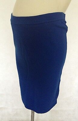 [226] Topshop Maternity Blue Pencil Skirt Size 10
