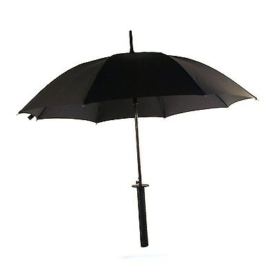 Sword Umbrella Black Creative Novelty ninja pirate katana japanese
