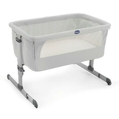 Chicco Next 2 SILVER Me Bedside Co-Sleep Sleeping Baby Crib NEW FAST DELIVERY