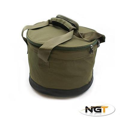NGT Insulated Deluxe Ground Bait Bowl Carp Fishing Bait Bucket (325)