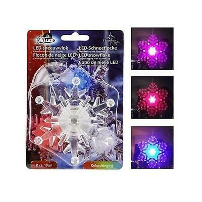Flocon de Neige LED 2 couleurs Rouge Bleu - Decoration Noel Fete - Port 0€ - 439