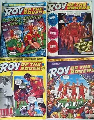 Roy Of The Rovers Comic ~ 4 Editions From October 1986 ~ Free Postage