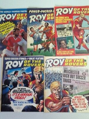 Roy Of The Rovers Comic ~ 5 Editions From November 1986 ~ Free Postage