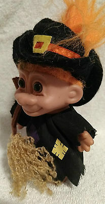 """Vintage 5"""" RUSS Halloween Witch Troll w Clear Foot Tag #25503"""