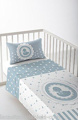 BLUE TWEETY Sábanas para cuna de 60cm /Duvet cover for cot