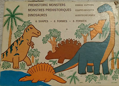 Cookie Cutters Prehistoric Dinosaur Monsters 6pc w/Box