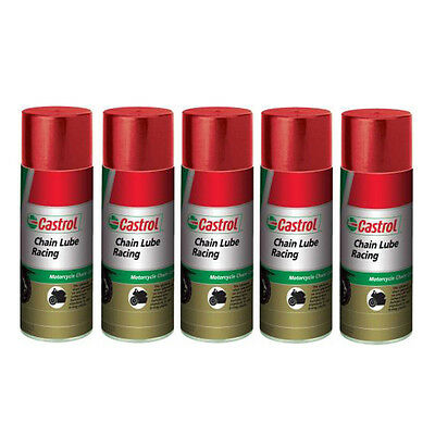 Castrol Chain Lube Racing Synthetic 5 Cans 400ml