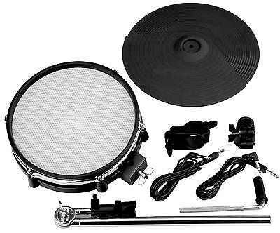 Set De Mesh Pour Batterie Electronique & Support E-Drum Percussion Cymbale Pad