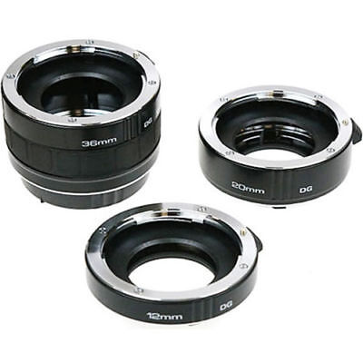 Kenko Auto Extension Tube Set DG (12, 20 & 36mm Tubes) - Nikon Fit