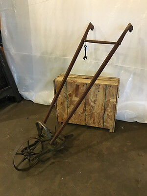 Planet Jr. Plow With Footrest and Original Wrench Antique Vintage Rustic Garden