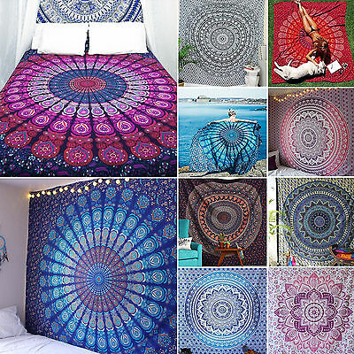 Twin Indian Mandala Tapestry Hippie Queen Wall Hanging Bedspread Blanket Throw