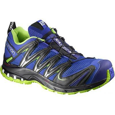 Shoes Scarpa Trail Running SALOMON XA PRO 3D Cobalt process blue granny green