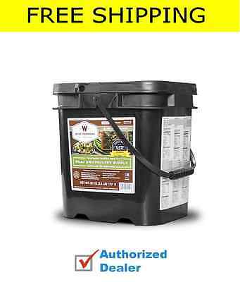 New WISE Food ~ 60 Serving Survival Freeze Dried Meals MEAT Bucket + FREE RICE