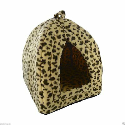 Luxury Pet Cat Soft Comfy Igloo House Bed Kitten Puppy