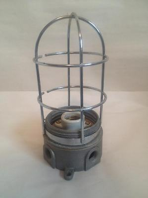 RAB Explosion Proof Light Industrial  VXJ Caged Fixture Sconce No Globe NOS