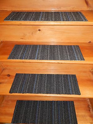 """13 Step  Indoor  Stair Treads Staircase 8"""" x 24"""" Rug Carpet"""