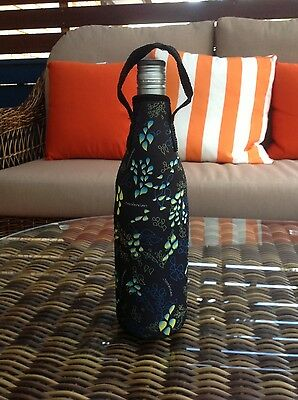 Wine Bottle Cooler with zipper - Vino Droplets