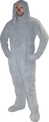 Adult Men's Wilfred Comedy TV Show Series One Size Deluxe Gray Dog Costume