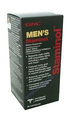 Gnc Mega Men's Staminol Powerful Male Performance Stamina Supports Male Vitality